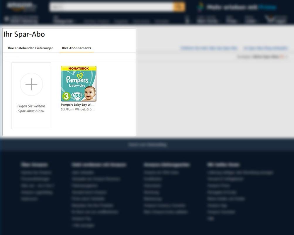 Amazon Spar-Abonnements verwalten