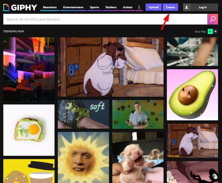 Giphy.com öffnen