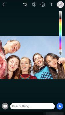 WhatsApp Gesichter verpixeln