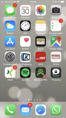 iPhone Starbildschirm