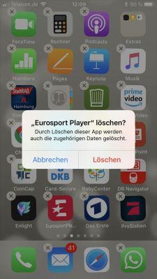 iPhone App löschen bestätigen