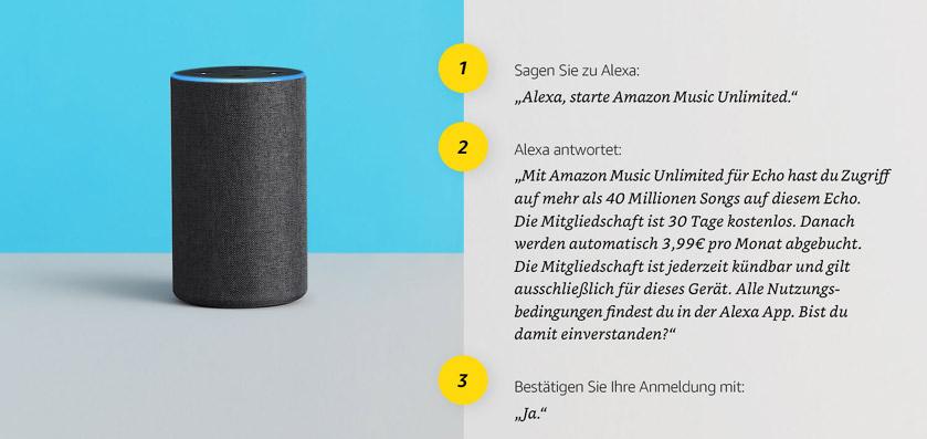 Amazon Music Unlimited für Echo