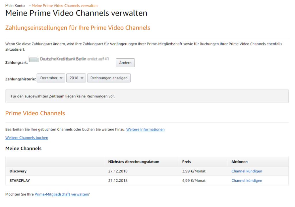 Amazon Channels kündigen