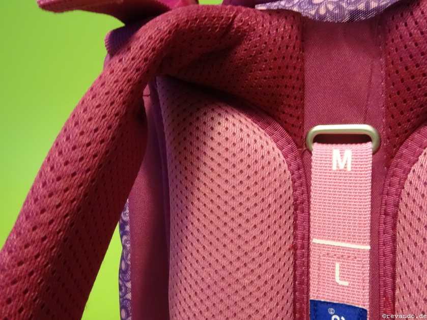 Herlitz Motion Plus Test Rückenpolster mit Mesh