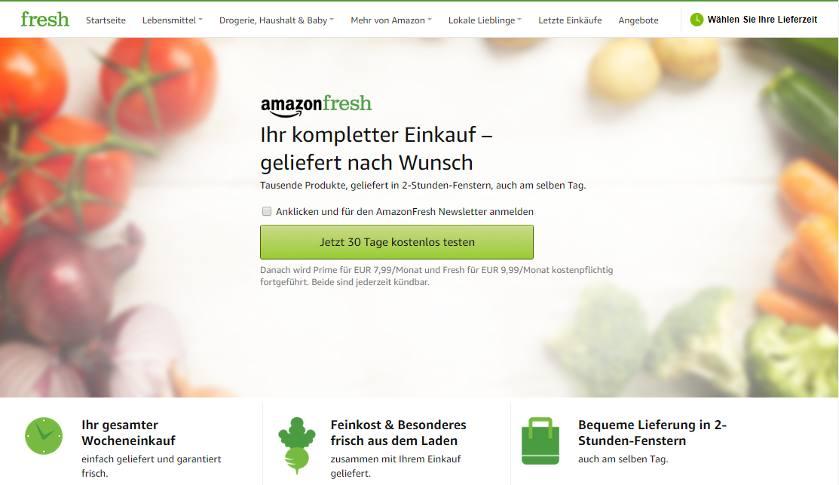 Amazon Fresh kostenlos testen