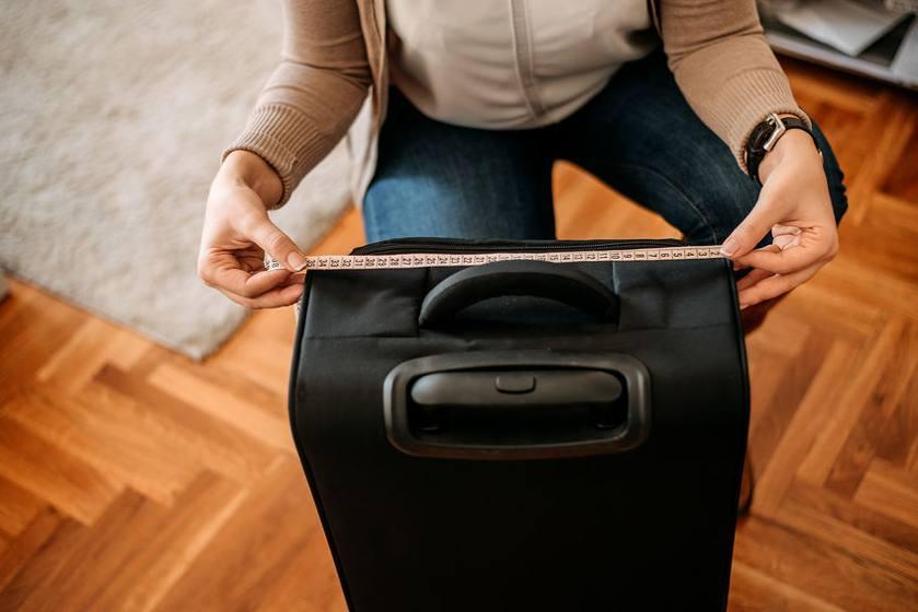 Koffer ausmessen Gurtmaß