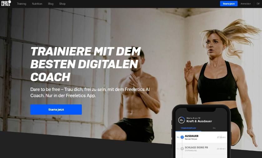 Online Fitnessstudio freeletics