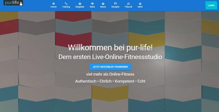 Online Fitnessstudio purlife